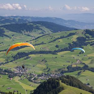 Parasailing over Appenzell