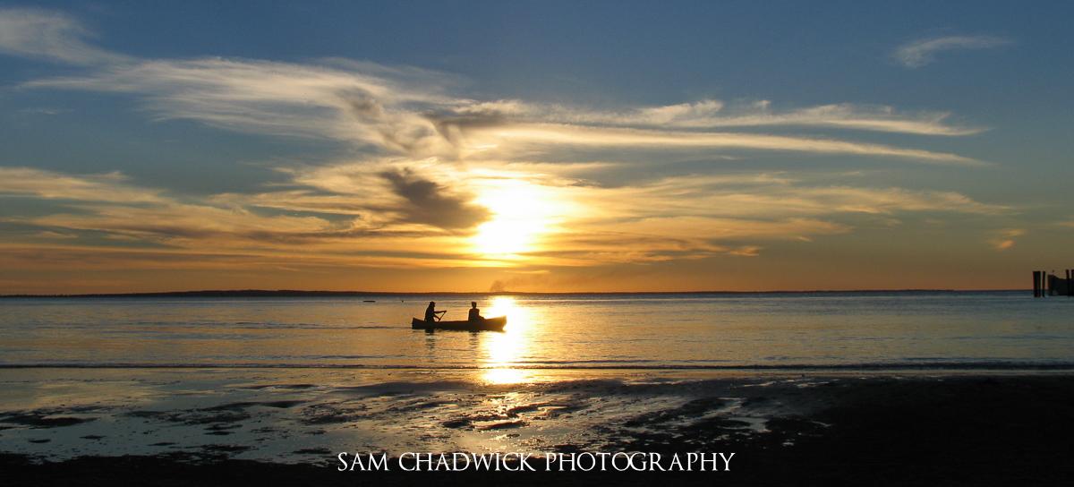 Canoeing off Fraser Island