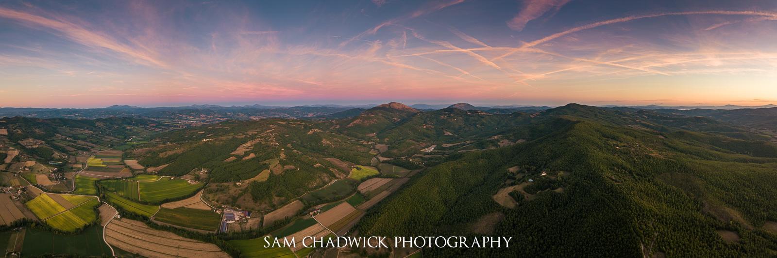 Sunset over Monte Corona