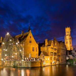 Bruges after dark