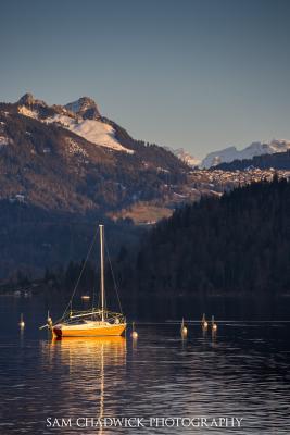 Moored Boat on Aegerisee